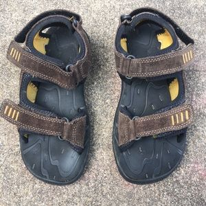 Stride Rite Boys 3M Marin Brown Leather Sandals